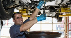 Oil change, changing engine oil at Hong Kong Auto Service in Wilmette, IL